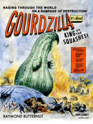 gourdzilla art by Alan F. Beck